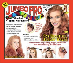 Jumbo Pro Hair Curlers- larger version of the Wrap Snap Go comfort curlers.