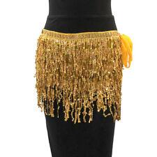 Nightclub Sequins Belly Dancing Bra Tops Costume Tassel Hip Belt Waist Skirts