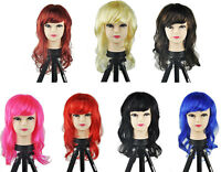 Women's Sexy Long Curly Fancy Dress Wigs Play Costume Ladies Full Wig Party