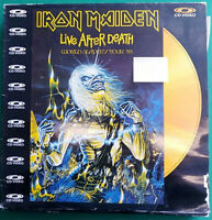IRON MAIDEN LASER DISC LIVE AFTER DEATH CD VIDEO WORLD SLAVERY TOUR 85