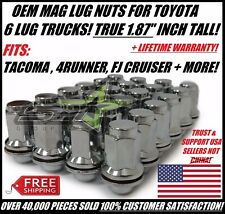 "24 OEM FACTORY MAG LUG NUTS FOR TOYOTA LEXUS 1.87"" CORRECT LENGTH FOR TRUCKS"