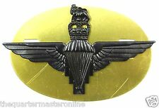 The Parachute Regiment Black Combat Cap Badge QC