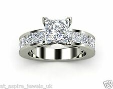 1.98CT PRINCESS CUT SOLITAIRE LADIES ENGAGEMENT RING STERLING SILVER 925 S