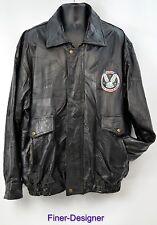 VIETNAM VETERAN Mens patchwork Leather jacket coat bomber motocycle SIZE XXL VTG