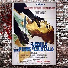 Manifesto Originale L'Uccello Dalle Piume Di Cristallo Dario Argento 140x200 CM