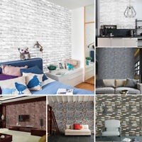 3D Brick Stone Rustic Effect Self-adhesive Wall Sticker Paper Bedroom Decor kon