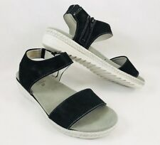 Spring Step Evi Strap Sandals Black White Womens Size 6.5-7 / 37