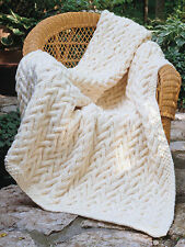 Afghans & Throws 11 Heart Warming Textured Designs Knitting Crochet Pattern Book
