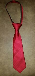 New NORDSTROM Little Boy's Zipper Neck Tie 100% Silk Red