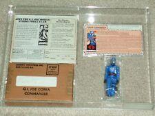 Vintage GI JOE 1982 AFA 85/85/90 COBRA COMMANDER MAILER BOX straight Arm HASBRO!