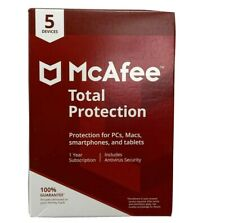McAfee 1 Year Total Protection - 5 Devices PC Mac Smartphone Tablet