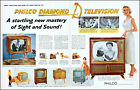 1957 Philco Diamond D Television Miss America model vintage photo print ad L56 photo