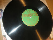 78RPM Columbia Carsten Woll, Norwegian, Paul Hill Side / Old Woman Crutches V+E-