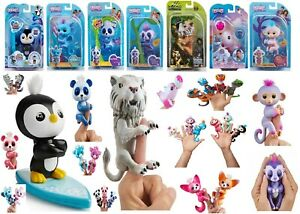 WowWee Fingerlings Panda Monkey Sloth Tiger Panther Dolphin Dragon Penguin Toy