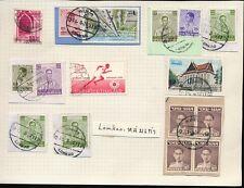 THAILAND SIAM LOMKAO + LOENGNOKTHA POSTMARKS 16 stamps