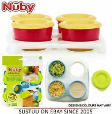 NUBY Garden Fresh Congélateur pots │ Baby Food & Snack de Conservation avec Couv...