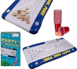 PoolPong - BeerPong für den Pool! Luftmatratze inkl. 20 Kunststoffbechern