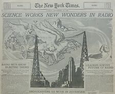 RADIO SCIENCE  RECEIVERS TELEVISION MUSIC SYKES NY TIMES September 16 1928