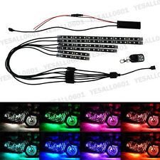 6x Car Motorcycle ATV RGB LED Strip Lights Neon Under Body Glow Remote Control