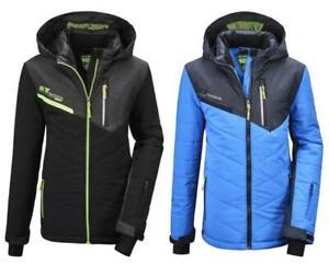 Boys' KILLTEC Quilted Insulated Ski Jacket Coat Down Look w/ Hood & Snowcatcher