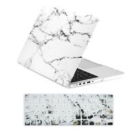"MARBLE WHITE Matte Hard Case + Keyboard cover for Macbook Pro 15"" Retina A1398"