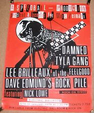 THE DAMNED TYLA GANG BRILLEAUX EDMUNDS NICK LOWE CONCERT POSTER 6th JAN 1979 UK