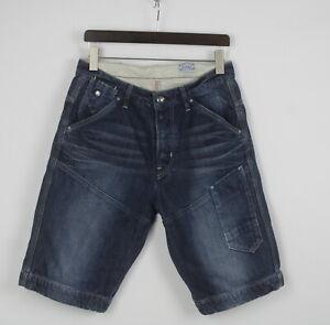 G-STAR RAW NE 5620 LOOSE 1/2 Men's W30 Fade Effect Thick Denim Shorts 25374_JS