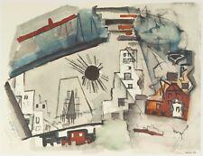 "Downtown New York Black Sun   16x12"" 1950s Print by John Marin (1870-1953)"