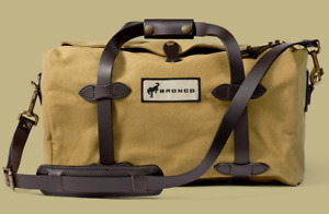 Filson x Ford Bronco Rugged Twill Small Duffle Bag 20217079 Leather Tan RARE