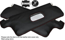 RED STITCHING 2X SUN VISORS LEATHER COVERS FITS VW SCIROCCO MK2 1981-1992