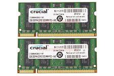 Crucial 4GB 2X 2GB Laptop Memory PC2-6400S DDR2 800Mhz 200pin SODIMM RAM CL6 @1H