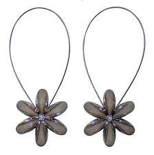 2 x magnétique floral embrasses ARGENT BEIGE DIAMANT rideaux voiles filets
