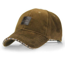 Baseball Cap Mustard Brown Corduroy Leather Badge - BB0001