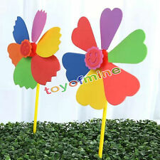 Colorful Windmill DIY Plastic Kid Wind Spinner Handmade Classic Toy NEW