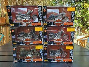 Lot of 6 1998 Maisto 1:18 Harley-Davidson 1998 Series 3 Models Complete Set MIB