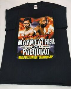 2015 Mayweather Vs Pacquiao Championship Fight T-shirt Size men's Large EUC