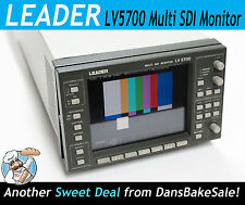 Leader LV5700 Multi SDI Monitor with Free Scope Tray - Tested - Works Great!