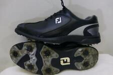 FootJoy Sport LT black Leather Golf Shoes 58038 soft rubber cleat mens sz 11 M