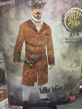 WILD WEST AGENT L Smiffy's Deluxe Men's Steam Punk Conductor Costume