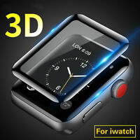 3D Protective Glass for Apple Watch 42/38mm Full Cover Curved 9H Tempered Glass