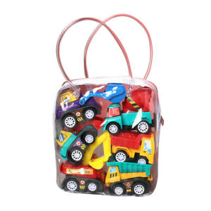 6PCS Toy Cars Gifts Pull Back and Go Vehicles Set for Baby Boys 1/2/3 Years Old