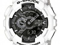 *NEW* CASIO MENS G SHOCK WHITE ALARM WATCH OVERSIZE GA-110GW-7AER 7ADR  RRP£150