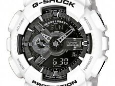 *NEW* CASIO MENS G SHOCK WHITE ALARM WATCH OVERSIZE GA-110GW-7AER 7ADR  RRP£150