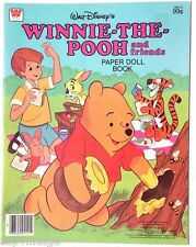 Vintage NEW Walt Dinsey Winnie The Pooh PAPER Dolls (Whitman) Book / Booklet