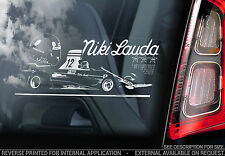 Niki Lauda - F1 Car Window Sticker - Ferrari Mclaren Formula 1 Sign Art Badge