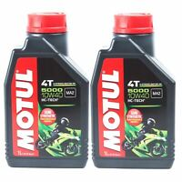 Motul 5000 4T 10W-40 Semi-Synthetic 4 Stroke Motorcycle Engine Oil - 2 Litre