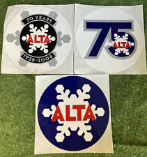 Lot 3 Alta Ski Resort 70th And 75th Anniversary Decal Stickers Limited Edition