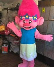 New Trolls Princess Poppy Mascot Costume Halloween Christmas Party Adult Suit