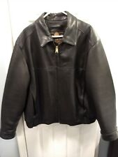 Marc New York First Class Men's XL Brown  Leather Bomber Jacket