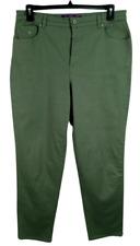 Gloria vanderbilt green denim spandex stretch embroidered amanda jeans 16